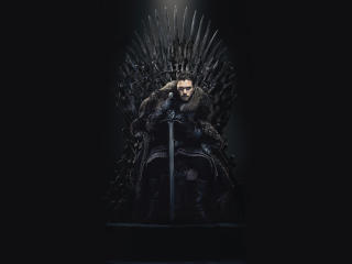 Jon Snow in The Iron Throne wallpaper