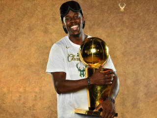 Jrue Holiday NBA Champion 2021 wallpaper