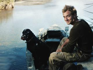 Jude Law With Dog wallpaper