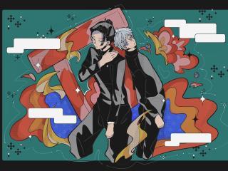 Jujutsu Kaisen and Satoru Gojo Art wallpaper