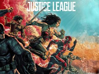 Justice League Comic Art Poster wallpaper
