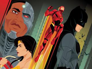 Justice League IMAX Comic Cover Art wallpaper