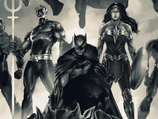 Justice League Monochrome wallpaper