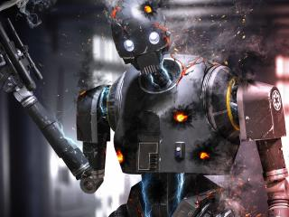 K-2SO Damaged In Battle wallpaper