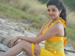 Kajal Agarwal Beach Photoshoot wallpaper