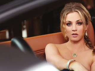 Kaley Cuoco Topless Images wallpaper