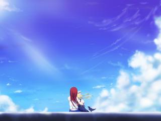 HD Wallpaper | Background Image kamio haruko, kamio misuzu, sky