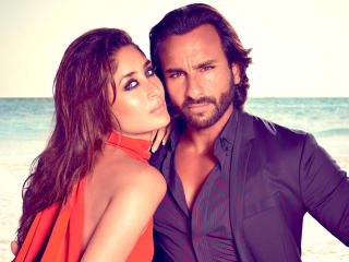 Kareena Kapoor with Saif Ali Khan wallpapers wallpaper