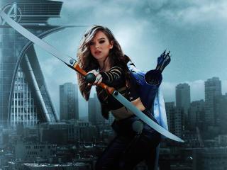 Kate Bishop Hawkeye Poster 4k FanArt wallpaper