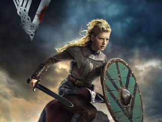 Katheryn Winnick In Vikings wallpaper