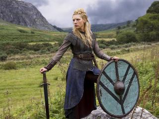 Kathryn Winnick Lagertha Vikings wallpaper