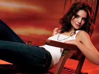 Katie Holmes Killing Look wallpaper