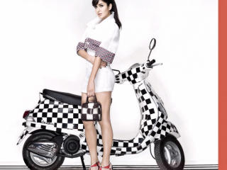 Katrina Kaif With Vespa wallpaper