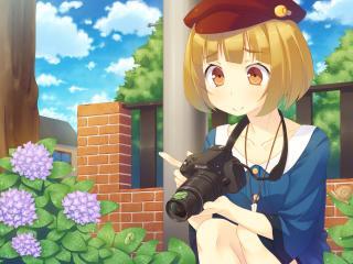kazushiki midori, girl, blonde wallpaper