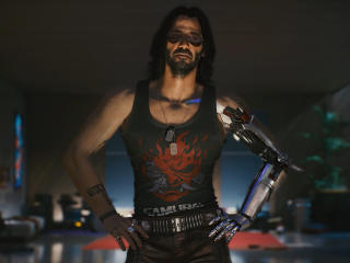 Keanu Reeves as Johnny Silverhand Cyberpunk wallpaper