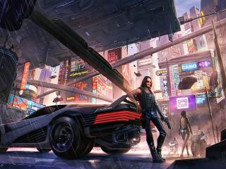 Keanu Reeves Cyberpunk 2077 Art wallpaper