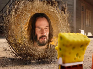 Keanu Reeves SpongeBob Movie wallpaper