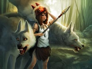 kelly perry, princess mononoke, girl wallpaper