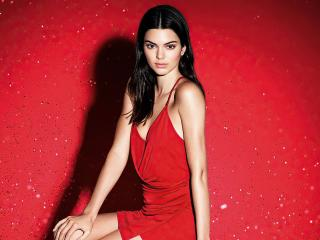 Kendall Jenner Red Dress Model wallpaper