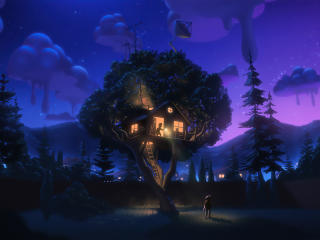 Kids Tree House wallpaper