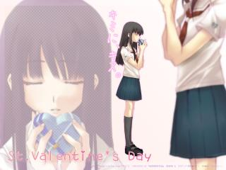 kimikiss valentine, girl, brunette wallpaper