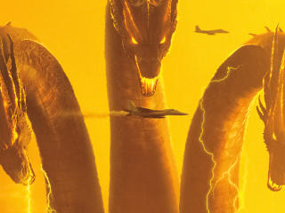 King Ghidorah In Godzilla King of the Monsters 4k 8k wallpaper