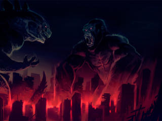 King Kong vs Godzilla Artwork wallpaper
