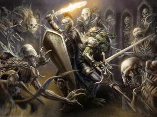 knight, armor, helmet wallpaper