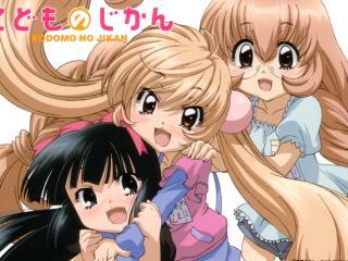 kodomo no jikan, girls, hug wallpaper