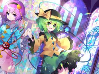 Koishi Komeiji and Satori Komeiji Touhou wallpaper