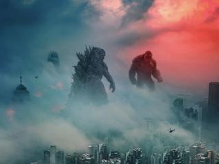 Kong meets Godzilla wallpaper