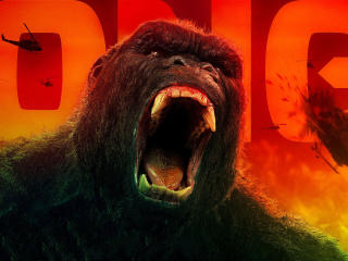 Kong Skull Island All Hail The King 4k Godzilla wallpaper