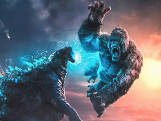 Kong V Godzilla 4k Art wallpaper