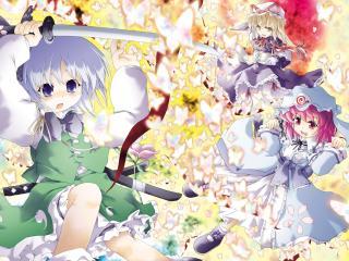 konpaku youmu, saigyouji yuyuko, girls wallpaper