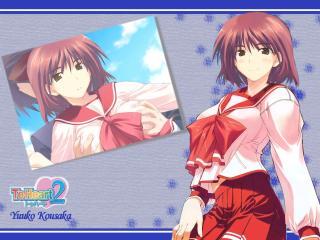 kousaka yuuko, to heart 2, girl wallpaper