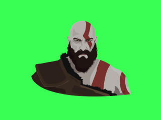 Kratos 10K Vector Art wallpaper