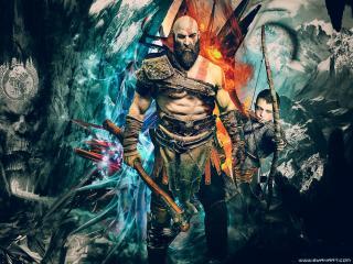 Kratos 2021 God Of War Art wallpaper