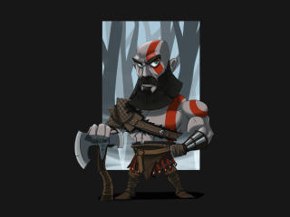 Kratos Cool God Of War Art wallpaper