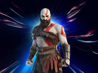 Kratos Fortnite x God of War PS5 wallpaper