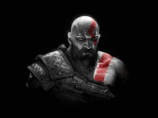 Kratos GoW Amoled wallpaper