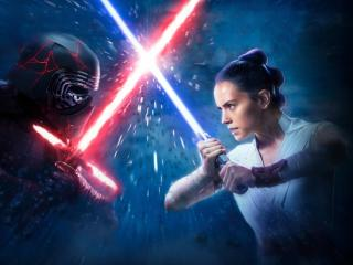 Kylo Ren vs Rey wallpaper