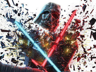Kylo Rey vs Darth Vader wallpaper