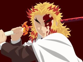 Kyojuro Rengoku 4k Demon Slayer Kimetsu No Yaiba wallpaper