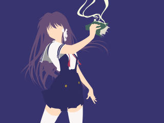 HD Wallpaper | Background Image Kyou Fujibayashi Minimal