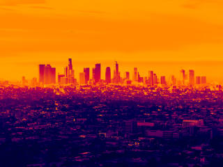 LA Cityscape in Infrared wallpaper