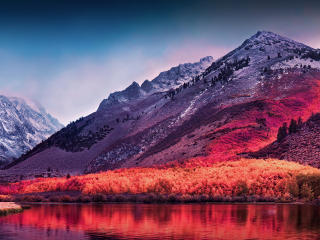 HD Wallpaper | Background Image Lagoon Mountains