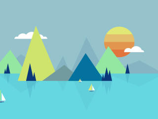 Lake Minimalist wallpaper