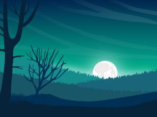 Landscape Moon Digital Evening 5k wallpaper