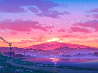 Landscape Pixel Art wallpaper