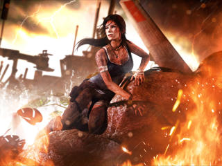 Lara Croft 4K Tomb Raider wallpaper
